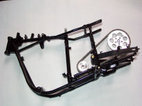 Painted chain and frame