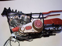 1/6 gearbox and engine mounted
