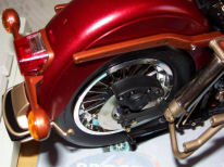 Rear wheels on 1/6 Harley fitted