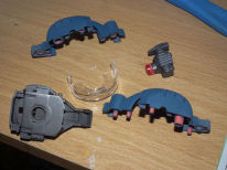 First stage of 1/48 Zaku 2 head build